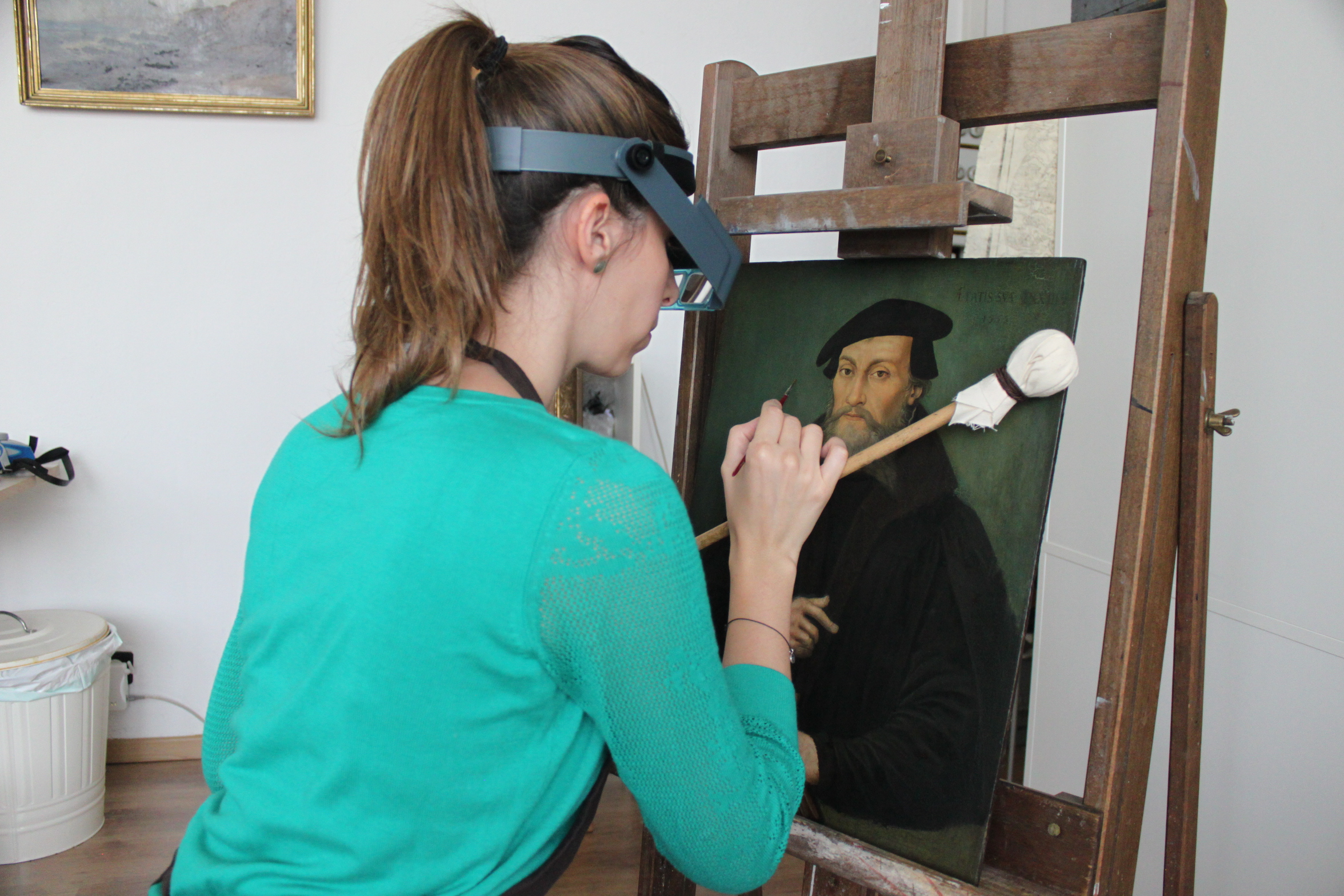 Restauration d'une peinture