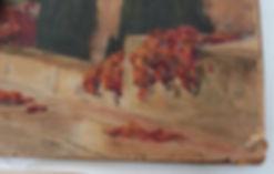 Avant restauration - aquarelle sur papier (coin inférieur droit)