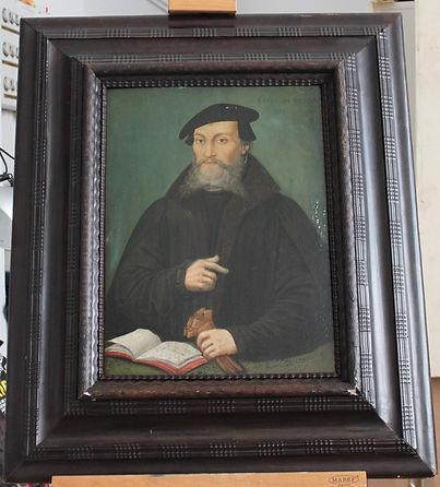Avant restauration - Peinture sur bois du 16ème siècle