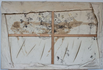 Avant restauration - revers du tableau