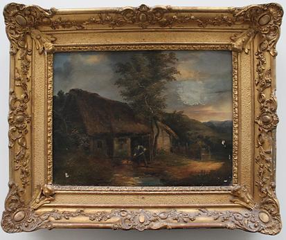 Restauration du cadre et de la peinture