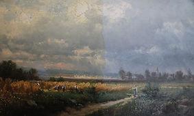 Restauration d'un tableau de Josef Schoyerer