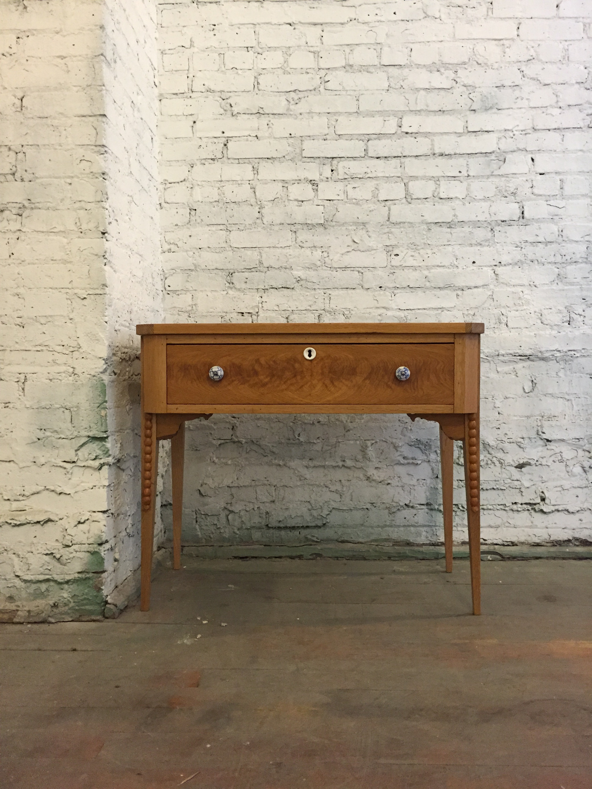 antique white oak vanity