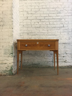 antique white oak vanity
