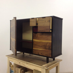 walnut, blackened ash sideboard