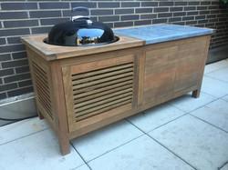 ipe, zinc BBQ cabinet