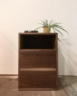 walnut nightstand
