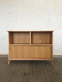 white oak, maple media cabinet