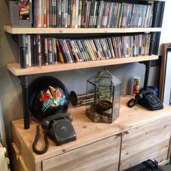 doug fir, black pipe, leather