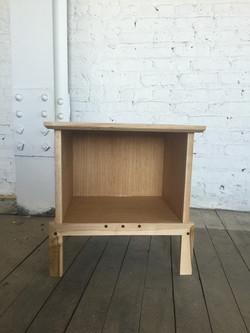 white oak, maple side table