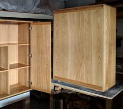 solid oak cabinets