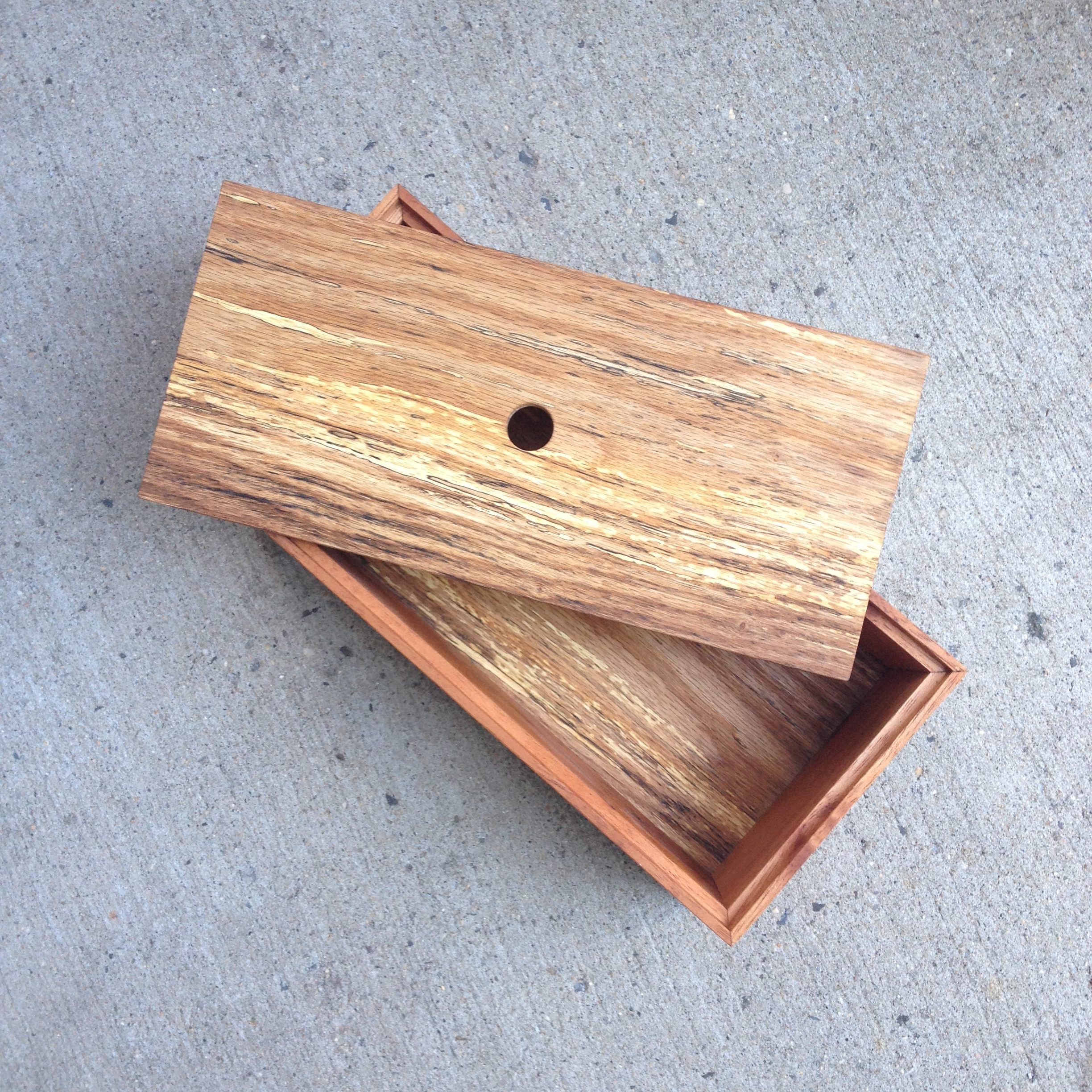 spanish cedar, spalted oak box