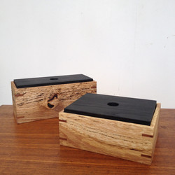 spalted oak, blackened ash boxes