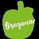 Omenan muotoinen Oregana logo