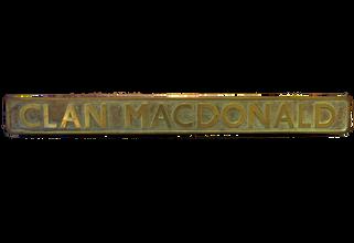 MacDonald Engine Nameplate
