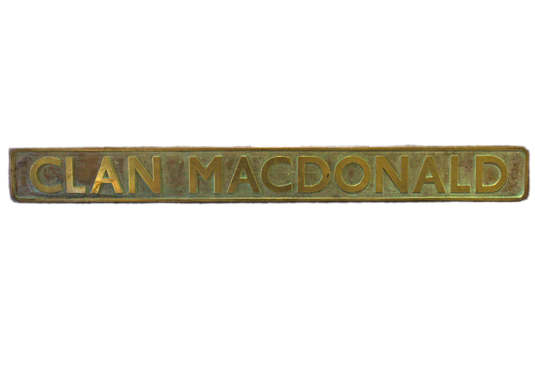 MacDonald Engine Nameplate