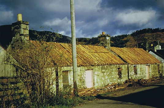The derelit cottages in 1971.