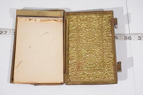 1920s Ornate Brass Notepad