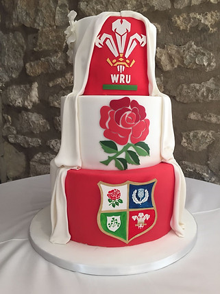 Rugby Wedding Cake.