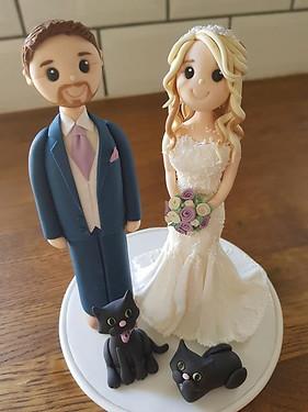 Bride & Groom Toppers.