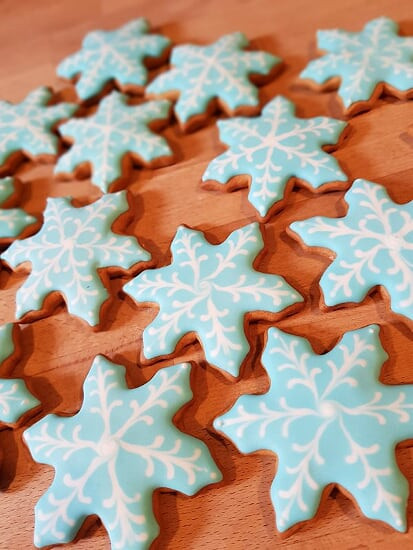 Snowflake Christmas Cookies.