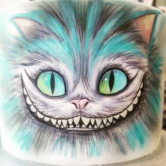 Cheshire Cat Handpainted.