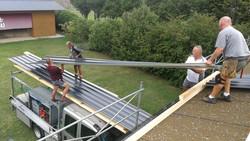 Dach Bleche abladen