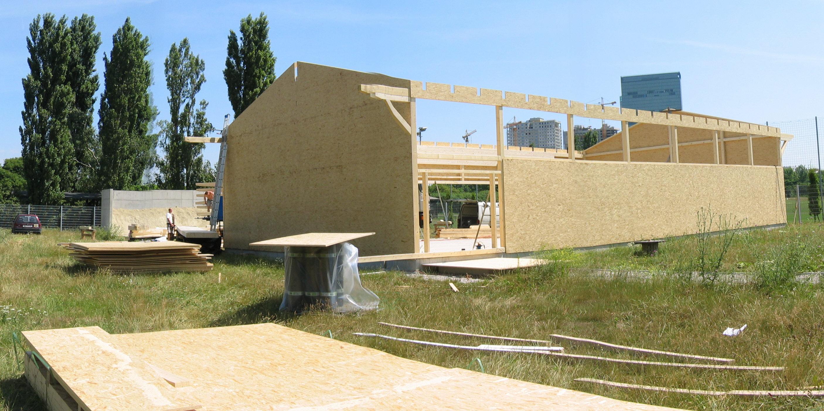 2003.07 Bau WienerBerg Kyudojo, 065P