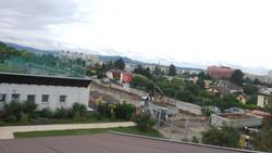 Baustelle vom dach