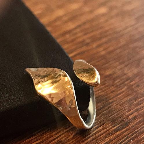 Statement, hammered ring