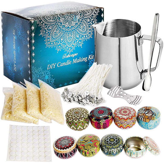 67 PCS DIY Candle Making Kit  With Scented Candle Jar Suitable for Beginner