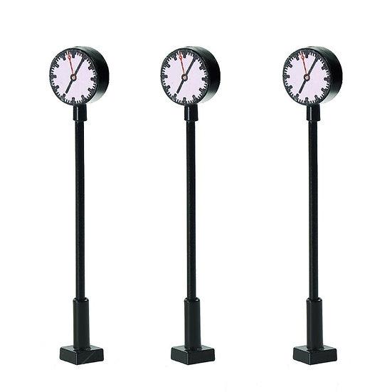 1:150 Scale LQS62N 3pcs Model Railway N Scale Lit Platform Clock Lamp