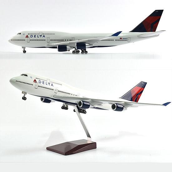 1:160 Scale JASON TUTU 46cm Delta Boeing 747 Airplane Model