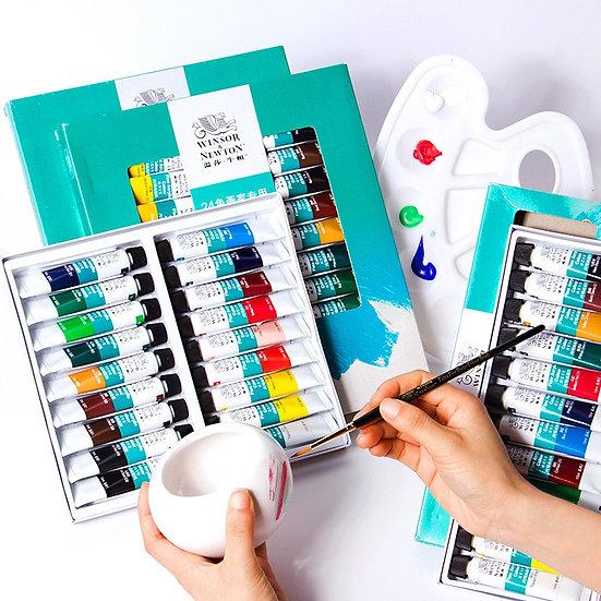 10ml Tube WINSOR & NEWTON Acrylic Paints Set Hand-Painted Wall Textile Paint