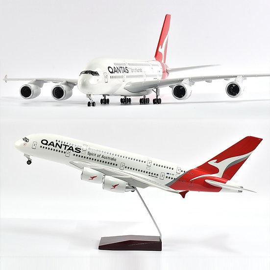 1/160 Scale JASON TUTU 46cm QANTAS Air Bus A380 Airplane Model