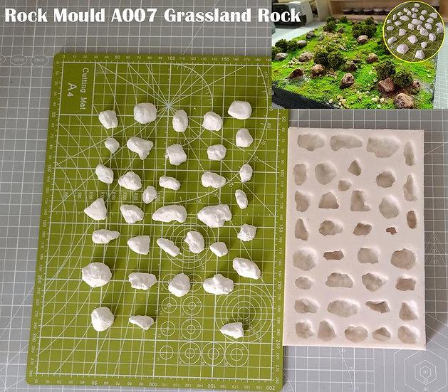 Miniature Rock Mould  A007 Grassland Rock  DIY Tool
