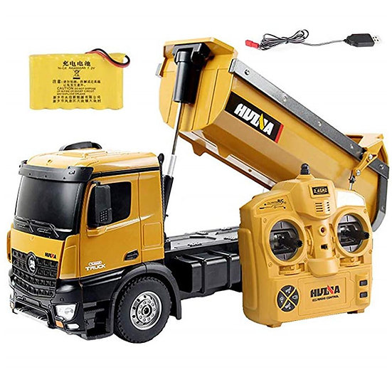 1:14 1573 RTR 2.4GHz 10 Channel Remote Control RC Dump Self-Discharging Truck