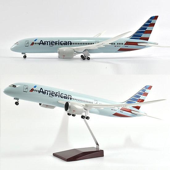 1/144 Scale Diecast Resin Airplanes Plane JASON TUTU 43cm American Boeing 787