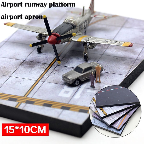 Airport Apron  Static Aircraft Runway Model  Military  15*10 Cm - Various Scales