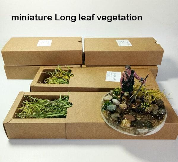 Model Simulation Long Leaf Vegetation Shrub Vegetation - DIY Material