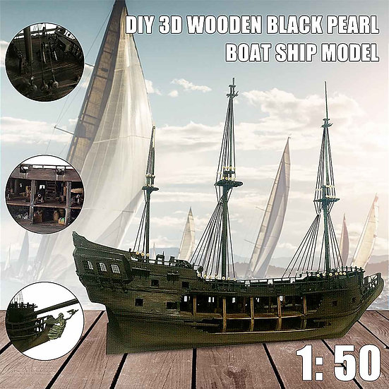 1:50 Black Pearl Model Ship Kit