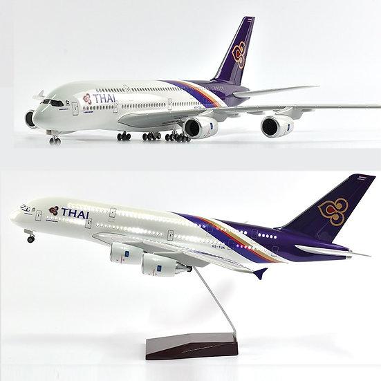 1:160 Scale JASON TUTU 46cm THAI Airbus A380 Airplane Model Aircraft
