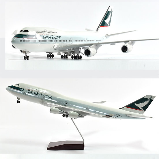 1/160 Scale JASON TUTU 46cm Cathay Pacific Boeing 747 Airplane Model Aircraft