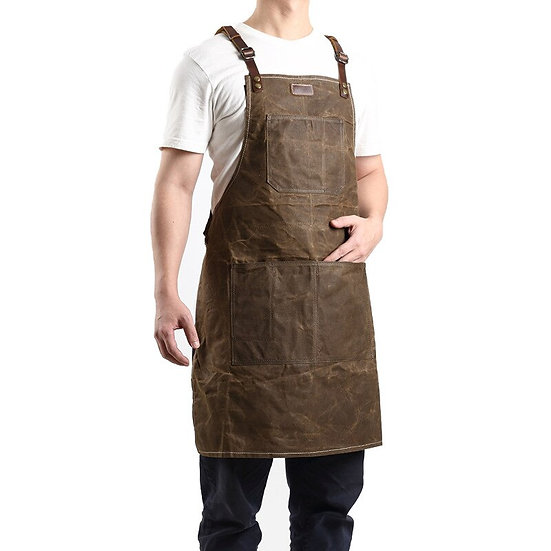 A015 Tool Apron Oil Wax Canvas Leather Gardening  Carpenter Painter Repairman