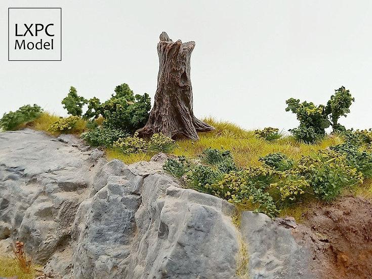 1:35 Scale - Dead Tree Stump Miniature Landscape Scene Simulation Tree