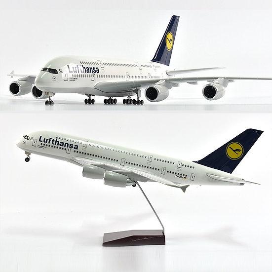 1/160 Scale JASON TUTU 46cm Lufthansa Airbus 380 Airplane Model