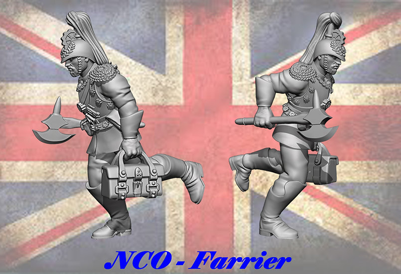 Cog Division - Dismounted NCO Farrier Running (1 Fig)