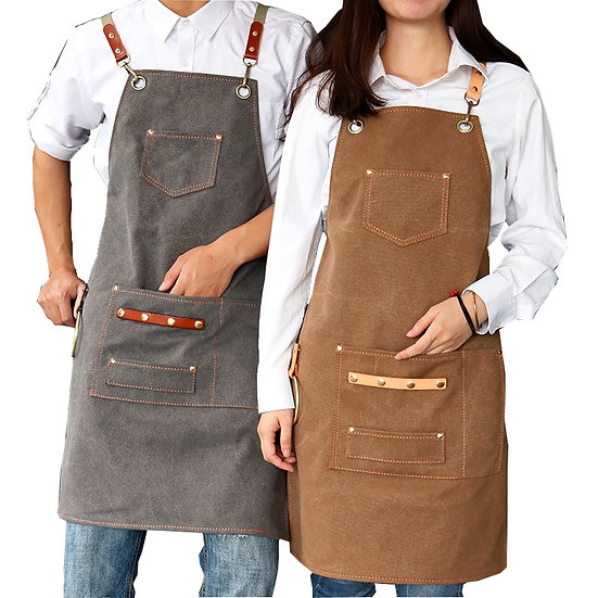 Thick Canvas Unisex Apron for Women Men - not water proof