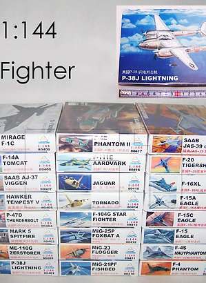 1: 144 Fighter Military Plastic Assembly Aircraft Model 25 different kits