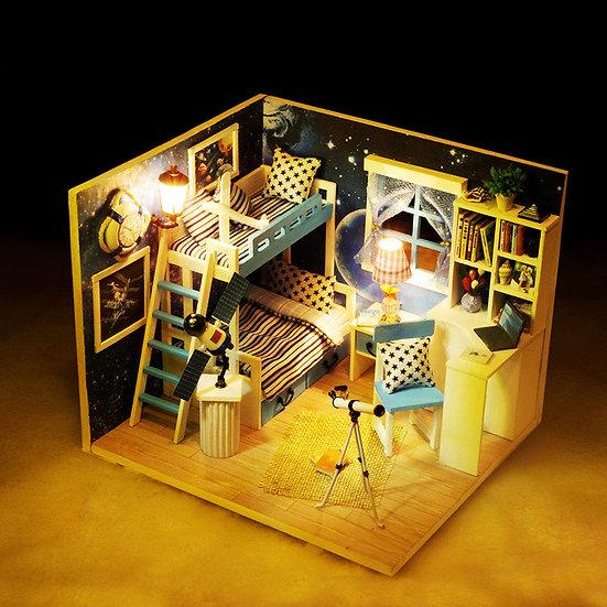 1:160 Scale - iiE CREATE Dollhouse Dream of Sky Mini DIY Kit - Lights and Cover